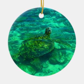 ハワイアンのHonuのウミガメ セラミックオーナメント