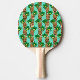 ハワイアンのTikiの繰り返しパターン 卓球ラケット