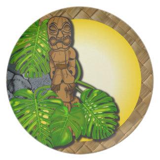 ハワイアンのTiki Lauhalaのプレート01 プレート