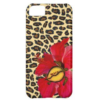 ハワイアンマウイHonuおよび金ヒョウのプリント iPhone5Cケース