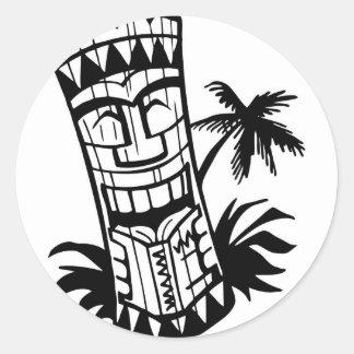 ハワイアンTIKIのバーの芸術 ラウンドシール