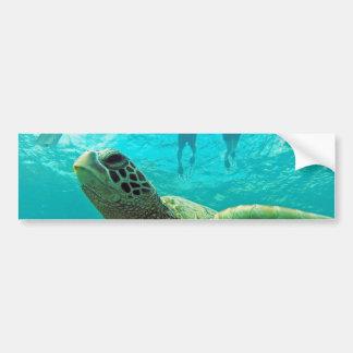 ハワイカメおよびSnorkelers バンパーステッカー