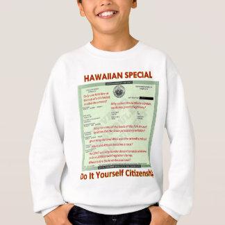 ハワイスペシャルDIYの市民権透明なBackg スウェットシャツ