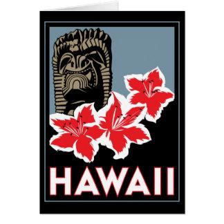 ハワイ米国米国のアール・デコのレトロ旅行 グリーティングカード