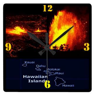ハワイ諸島の柱時計 時計