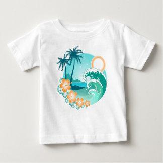 ハワイ諸島1 ベビーTシャツ