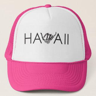 ハワイ骨組Shakaの-ピンク及び白いトラック運転手の帽子 キャップ