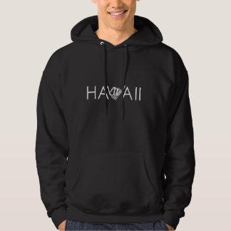 ハワイ骨組Shakaの-黒く及び白いフード付きスウェットシャツ パーカ