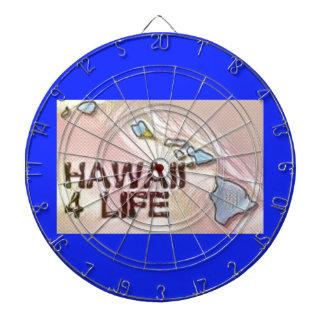 """""""ハワイ4生命""""の州の地図のプライドのデザイン ダーツボード"""