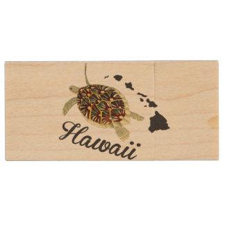 ハワイ ウッドUSBフラッシュドライブ