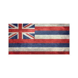 ハワイ-ヴィンテージ版の州の旗 キャンバスプリント