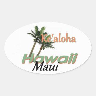 ハワイ 楕円形シール