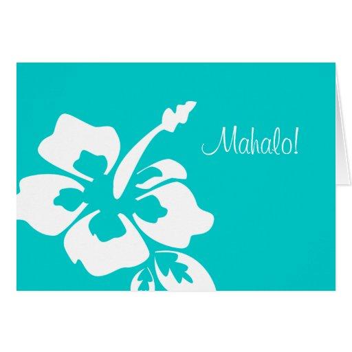 ハワイ 結婚 感謝していして下さい  カード ハイビスカス