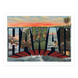 ハワイStateLargeの手紙ScenesHawaii ポストカード