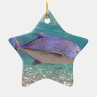 ハワイTrevallyの魚 セラミックオーナメント