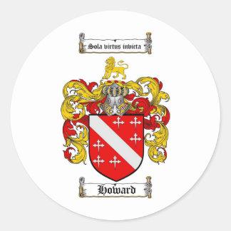 ハワードの家紋-ハワードの紋章付き外衣 ラウンドシール