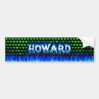 ハワードの青い火および炎のバンパーステッカーは設計します バンパーステッカー