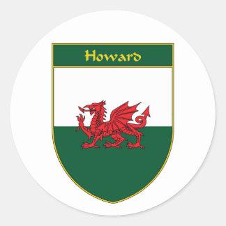 ハワードウェールズの旗の盾 ラウンドシール