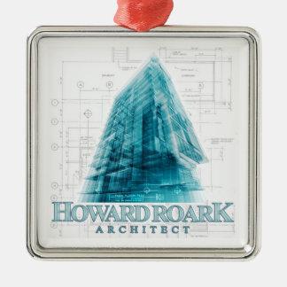 ハワードRoarkの建築家のクリスマスのオーナメント メタルオーナメント