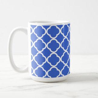 ハンの青いモロッコのクローバー コーヒーマグカップ