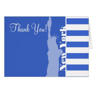 ハンの青い横は縞で飾ります; ニューヨーク カード