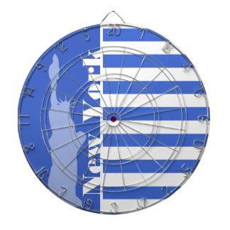 ハンの青い横は縞で飾ります; ニューヨーク ダーツボード