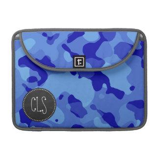 ハンの青の迷彩柄; レトロの黒板の一見 MacBook PROスリーブ