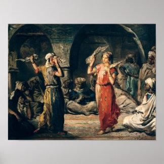 ハンカチーフのダンス、1849年 ポスター