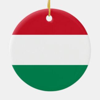 ハンガリーのオーナメントの旗 セラミックオーナメント
