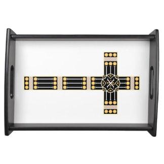 ハンガリーのカトリック教の十字の宗教の神の記号のストール トレー