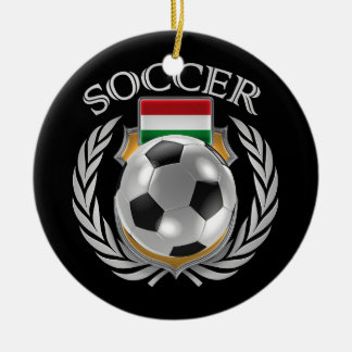 ハンガリーのサッカー2016ファンのギア セラミックオーナメント