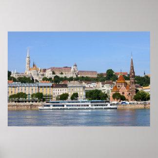 ハンガリーのブダペスト市 ポスター