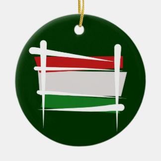 ハンガリーのブラシの旗 セラミックオーナメント