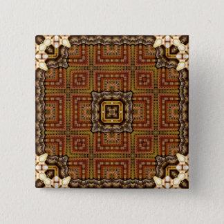 ハンガリーの万華鏡のように千変万化するパターンの曼荼羅: マティアスパターン 缶バッジ