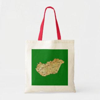 ハンガリーの地図のバッグ トートバッグ