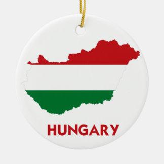 ハンガリーの地図 セラミックオーナメント