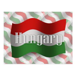 ハンガリーの振る旗 ポストカード