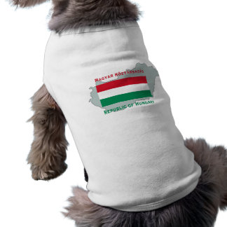 ハンガリーの旗および地図ペット衣類 ペット服