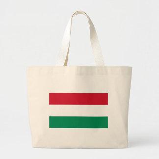 ハンガリーの旗が付いているバッグ ラージトートバッグ