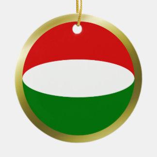 ハンガリーの旗のオーナメント セラミックオーナメント