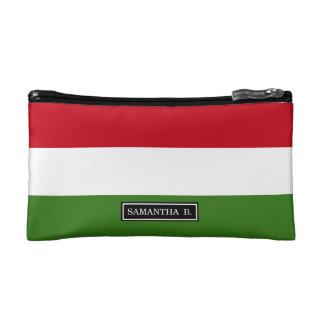 ハンガリーの旗 コスメティックバッグ