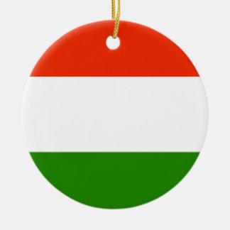 ハンガリーの旗 セラミックオーナメント