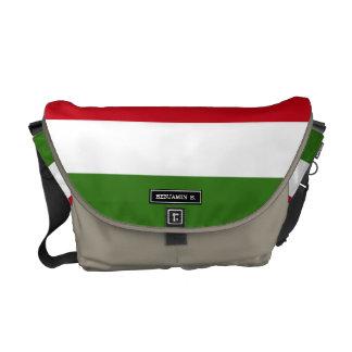 ハンガリーの旗 メッセンジャーバッグ