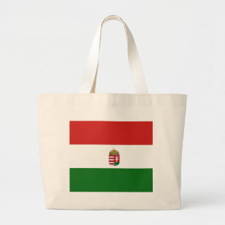 ハンガリーの旗 ラージトートバッグ