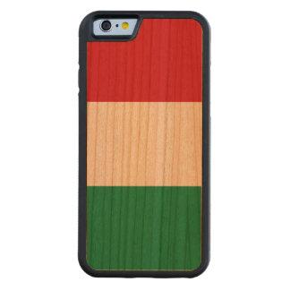 ハンガリーの旗 CarvedチェリーiPhone 6バンパーケース