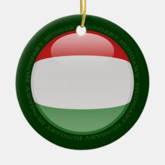 ハンガリーの泡旗 セラミックオーナメント