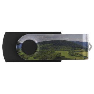 ハンガリーの緑豊かな景色 USBフラッシュドライブ