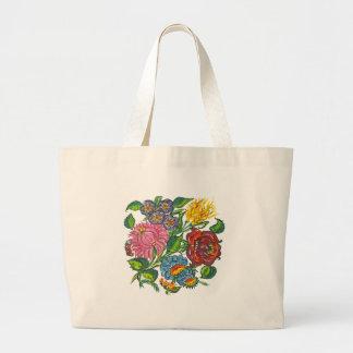 ハンガリーの花 ラージトートバッグ