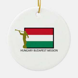 ハンガリーブダペストの代表団LDS CTR セラミックオーナメント