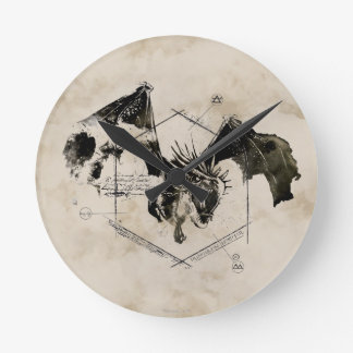 ハンガリー人のHorntailのドラゴン ラウンド壁時計
